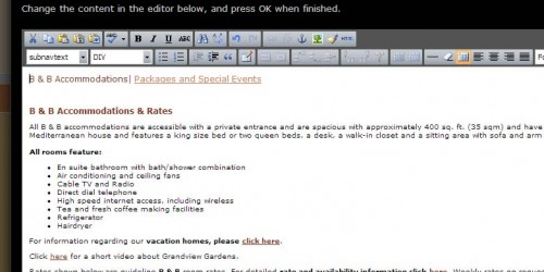HTML content editor example